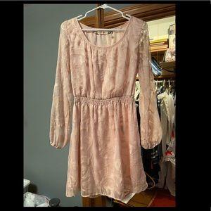 Light pink long sleeve dress